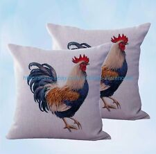 US Seller- set of 2 dining chair cushion farmhouse animal chicken cushion cover