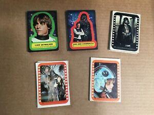 1977 Star Wars 1-5 Near Complete Sticker Sets (1-55) Good!