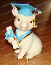 Graduation Pig (Lenox, 841527) Fine Bone China, Hand Painted, Accented in Gold