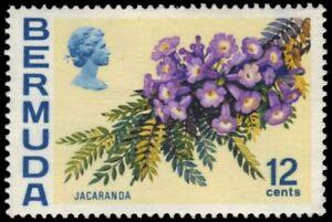 "BERMUDA 263a (SG305) - Jacaranda Flowers ""1974 Printing"" (pa86684)"