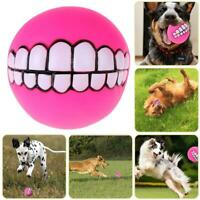 Funny Pet Dog Ball Teeth Toy Chew Squeaker Squeaky Sound Dog Puppy Play Toys