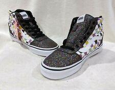 Vans Women's Ward Black/Multicolor Glitter Hi Top Skate Shoes - Size 8/9 NWOB