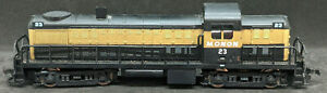 AHM Tempo HO: ALCO RS-2 Monon #23  Diesel Locomotive. Rare Vintage. Black & Gold