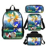 Sonic The Hedgehog Student Backpack Lunchbox Sling Bags Pen Case Boys Girls Lot