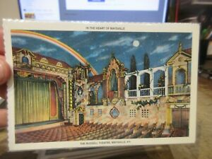 Vintage Old KENTUCKY Postcard Maysville Russell Theatre Theater Show Palace GONE