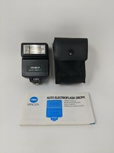 Minolta Auto Flash 280PX With Original Case & Owners Manual