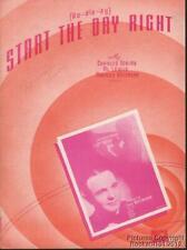 1939 Tobias, Lewis & Spitalny Sheet Music (Start the Day Right)