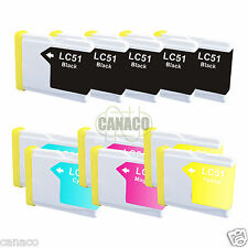 11 Pack LC51 NON-OEM Ink Cartridge for Brother Printer MFC-3360C MFC-240C LC51