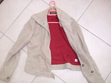 Fab designer ladies SW CASUAL jacket cord size 8 ex con winter, beige
