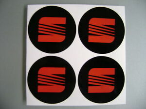 4x 70 mm fits seat wheel STICKERS center badge centre trim cap hub alloy red