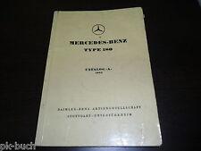 Catalogo Ricambi Parts Catalogo a Mercedes Benz W120 Ponton 1953