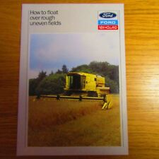 Ford New Holland Latéral Flotteur System for TF TX Combine Harvester brochure 1980 S