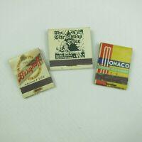 3 Vintage Matchbooks Berghoff Chicago Christmas Tree Reno & Monaco San Francisco