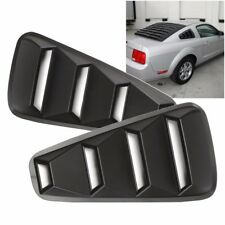 For 2005-14 Ford Mustang 1/4 Quarter Black Side Window Louvers Scoop Cover Vent