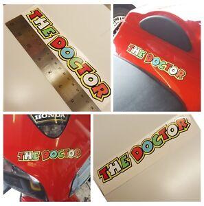 Valentino Rossi THE DOCTOR Sticker (x2) Vinyl Bike Car Helmet approx 170mm 018