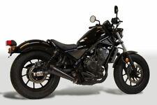 Retro Drag Black Slip On Exhaust M4 HO1012 For 17-19 Honda Rebel 500/300