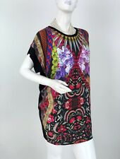 Roberto Cavalli New 4 6 US 42 IT S M Red Stretch Floral Blouse Dress Top Runway