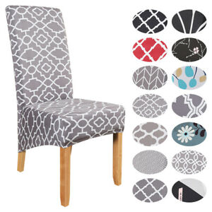 NEW Elastic Dining Chair Covers Chair Kitchen Back High Slipcovers Protective