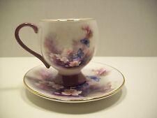 Lena Liel Blossoms & Butterflies Floral Tea Cup & Saucer Teleflora Collectable