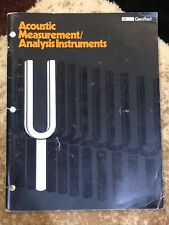 Acoustic Measurement Analysis Instruments Book
