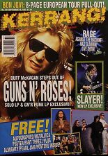Kerrang! Magazine #461, 1993 Guns N' Roses, Slayer, Rage Against the Machine