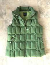GAP Womens Green Full Zip Fitted Down Puffer Vest--Size Small~Perfect Condition!