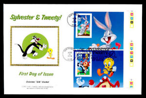 SYLVESTER & TWEETY PRESS SHEET FIRST DAY COVER - COMBO WITH BUGS BUNNY