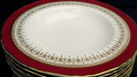 Royal Worcester REGENCY red rimmed soup up to 11 in stock