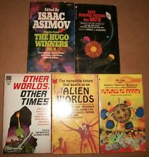 Alien Worlds Other Times Futures Elwood 5 lot Sf Science Fiction 1973 Hugo 72 Vg
