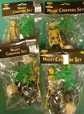 4 x 14pc nuit creepers Halloween Décorations set-araignées rat crâne squelette