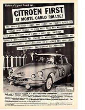 1959 CITROEN ID19 @ MONTE CARLO RACE  ~  ORIGINAL PRINT AD