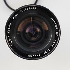 Nikon Nikkor Nippon Kogaku UD 20mm f3.5 Wide angle lens original AIS TESTED!