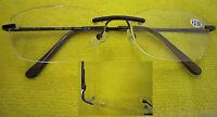 L85 Rimless Reading glasses Spring Hinges/Classic Style Design & Super Value+250