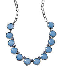 NWT's Regal Lia Sophia THEA Necklace w/Faceted Opal Resin Stones & Crystals-$98