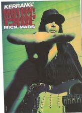 """MOTLEY CRUE Mick with a steady hand magazine PHOTO / Pin Up /Poster 11x8"""""""