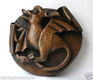 Medieval Church Carving Reproduction Gothic Bat Welsh Dragon Period Decor Gift