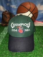 Rare Detroit Pistons champions 2004 green hat adjustable cap h21