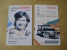 Autogrammkarte Christian Danner BMW M1 ca. 11x18cm