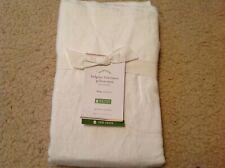 2 POTTERY BARN Belgian Flax Linen Pillowcases KING Size Potterybarn WHITE new