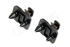 Genuine AUDI A4 A3 A5 TT Interior Sun Visor Hook Clips Soul Black Brackets 2pcs