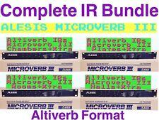 Alesis Microverb III * COMPLETE IR BUNDLE*  ALTIVERB IRs (Midiverb,Quadraverb)