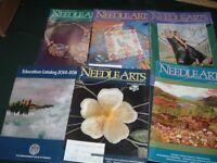 6 Vtg Lot Embroiderers Needlearts Guild America Magazines & Catalog 2014-16 #LK7
