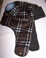 Life Is Good Elmer Fuzz Plaid Trapper Hat Cap Cargo Brown Men's L/xl 671873083355