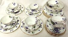 Hammersley England Victorian Violets Pattern Fine Bone China Cup Saucer #998
