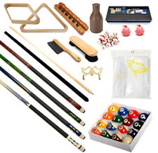 32 piece Billiards Accessories Kit - Pool Table - Balls, Cues, Triangle, racks