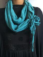 Lady Femmes Turquoise Snood écharpe Wrap Châle Beach Wear