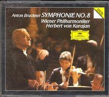 BRUCKNER - Symphony 8 - Herbert Von KARAJAN - DG WG PDO 2CDs
