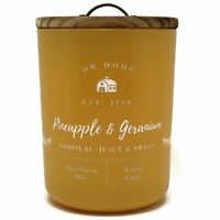 DW Home 25.4oz Large Double Wick Scented Candle Jar - Pineapple & Geranium