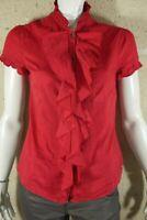 ESPRIT Taille L - 40  superbe chemise manches courtes rouge  blouse