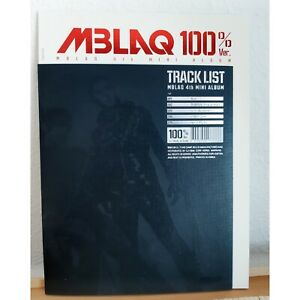 MBLAQ 100% 4th fourth mini Album K-POP CD Gebraucht
